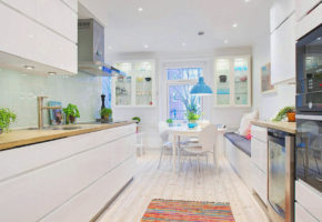 Белая кухня Коллекция «АРТ» — 25600 руб/м.п.