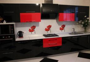 Черная кухня Коллекция «АКРИЛ» — 21500 руб/м.п.