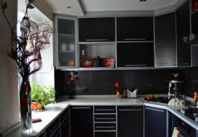Черная кухня Коллекция «ПОСТ» — 19700 руб/м.п.